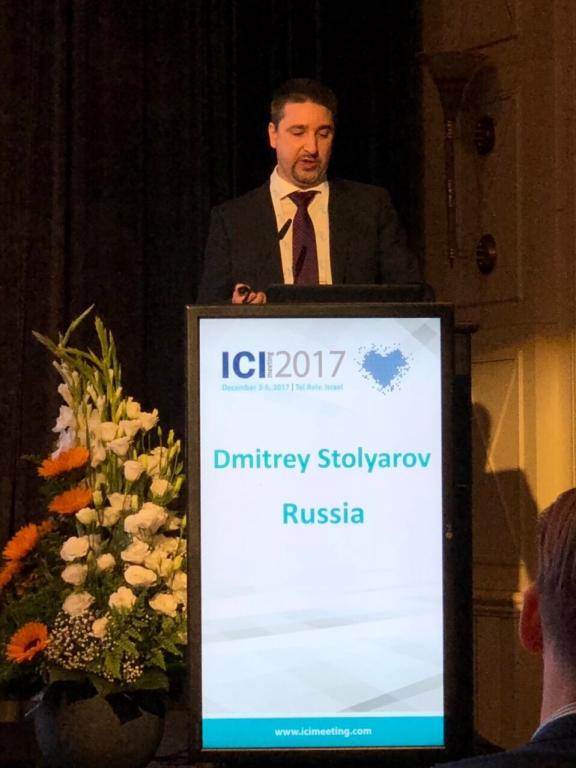 Дмитрий Столяров представил мировому профессиональному сообществу исследования российских врачей в области рентгенхирругических методов лечения